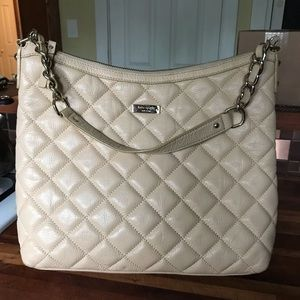 Kate spade quilted hobo bag